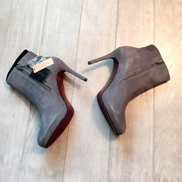 7c6e706b9ddc ZARA Leather Suede Boots Grey